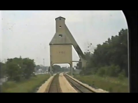 Amtrak 351  ride - Jackson MI to Chicago - July 17 1991