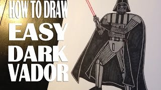 How to draw Darth Vader Star Wars Easy Step by step