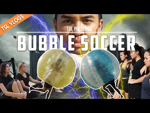 BUBBLE SOCCER ON THE BEACH! (IN SUPER SLOW MOTION!)   TSL Vlogs   EP 59