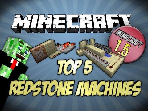 Top 5 Minecraft Redstone Machines Minecraft