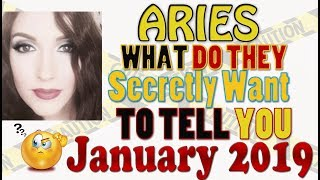 "Aries, "" WHAT DO THEY SECRETLY WANT TO TELL YOU""  JANUARY 2019 SPY ON THEM LOVE READINGS"