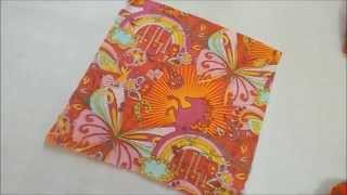 DIY : How To Make a Handkerchief : Easy method to sew table cloth, napkins , baby sheet picnic sheet