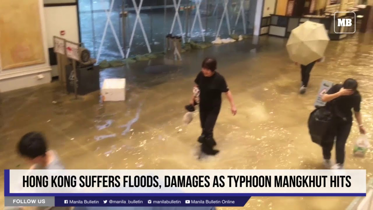 Hong Kong suffers floods, damages as Typhoon Mangkhut hits