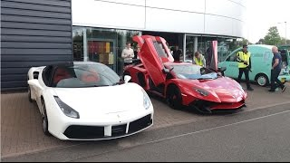 MIDLANDS CAR MEET: Lamborghini's and Ferrari's
