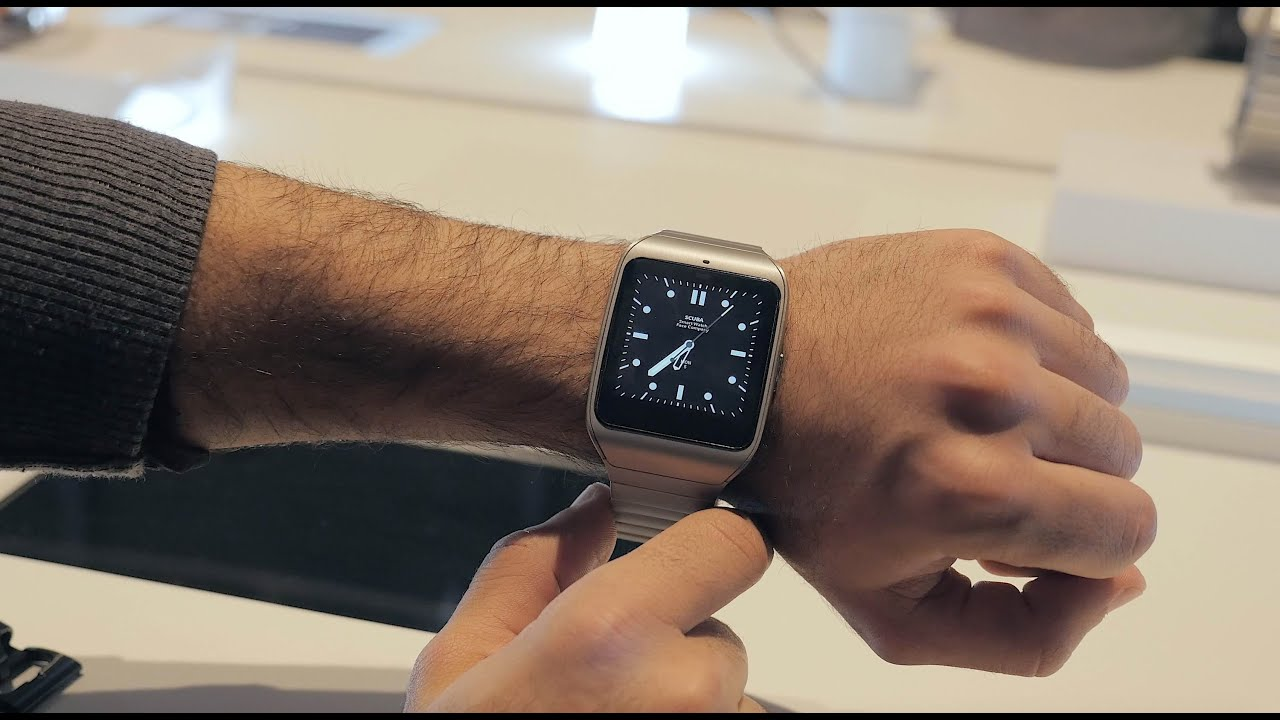 sony smartwatch 3 steel hands on youtube. Black Bedroom Furniture Sets. Home Design Ideas