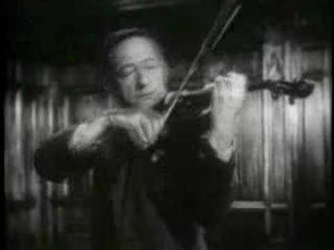 Jascha Heifetz plays Brahms Hungarian Dance #7