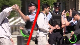 FUNNELLING BEERS IN FRONT OF COPS PRANK!