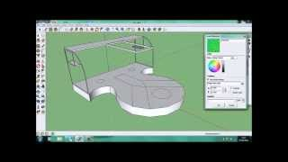 Google Sketchup Stage Design (x4 Speed)