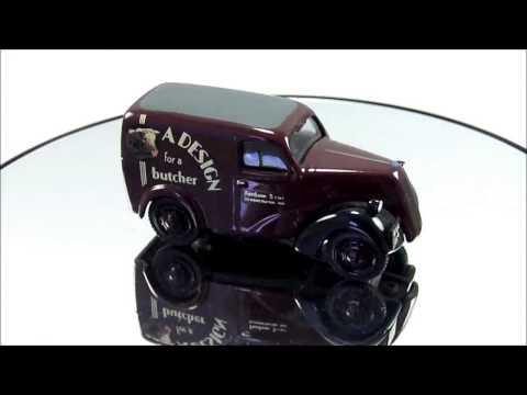 Somerville Models White Metal Model Fordson 5CWT Van Maroon Butcher Demonstrator 4