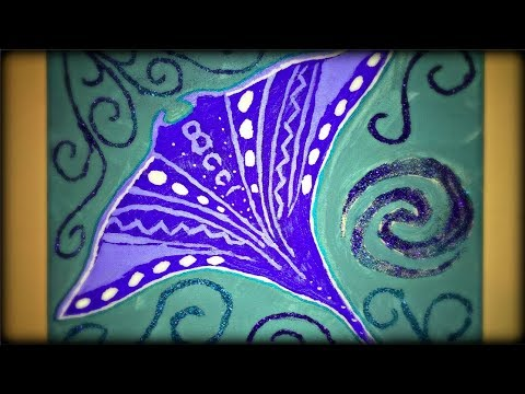 Painting Moana Manta Ray on Canvas! | 'How To' Design Ideas