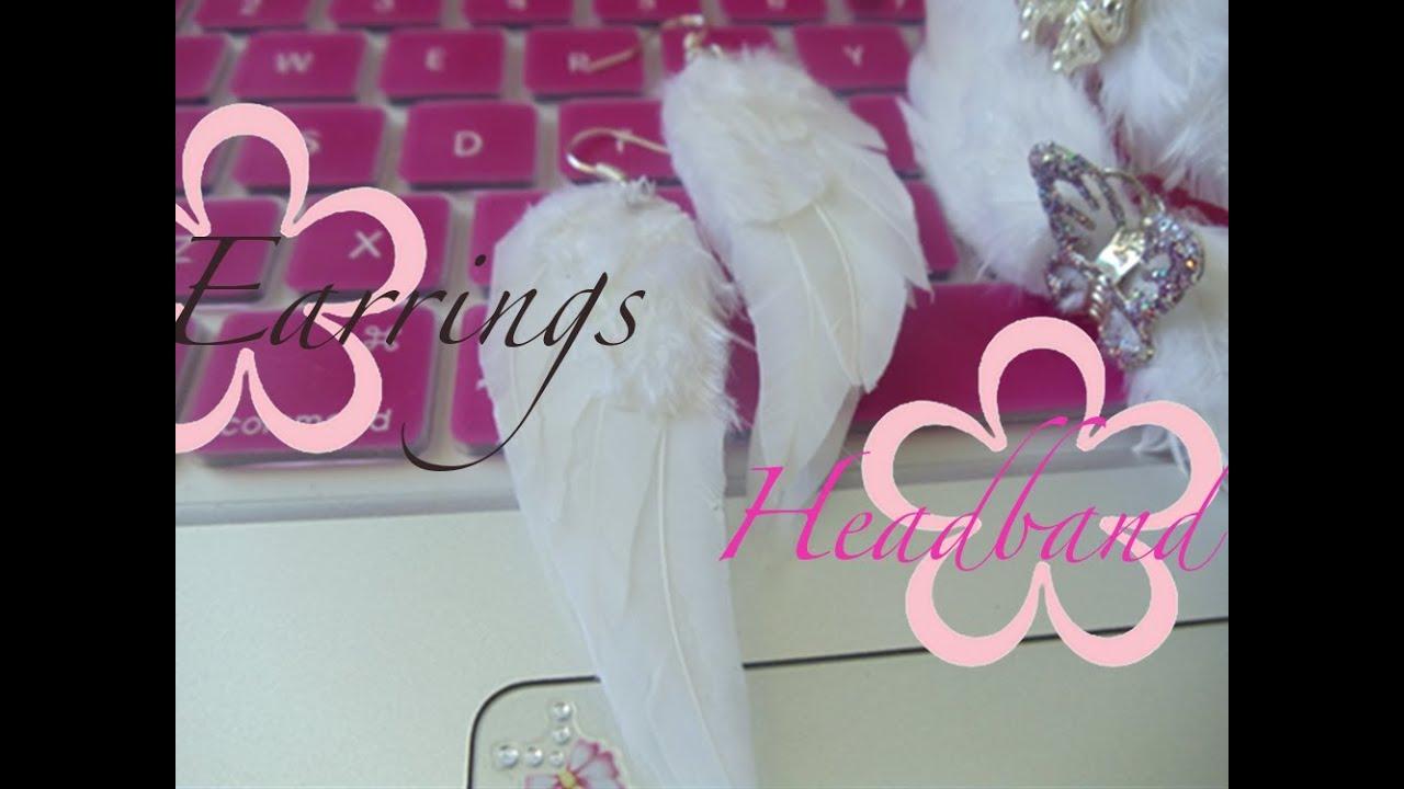 DIY: MeiIris\' Angel Wing Earrings & Headband (Real Feathers ...