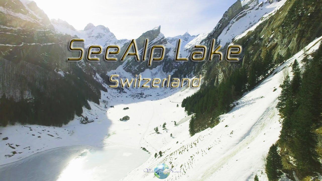 Seealp Lake In Appenzell In Winter Switzerland 4k Dji