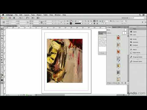 Import a folder full of pictures, one per page | InDesign | lynda.com