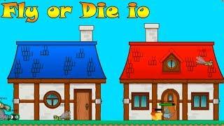 Бесячая ио игра! для железных нервов Эволюция животных - Fly or Die io  Лети или Умри ио