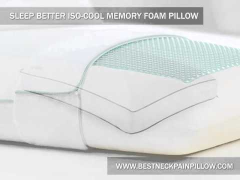 Sleep Better Iso Cool Memory Foam Pillow   YouTube