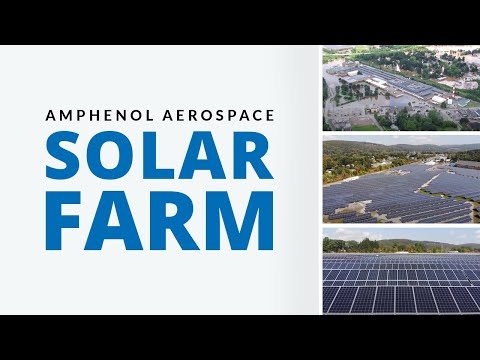 Amphenol Aerospace Solar Farm in Sidney, NY
