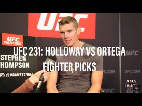 UFC 231: Max Holloway vs. Brian Ortega Fighter Picks