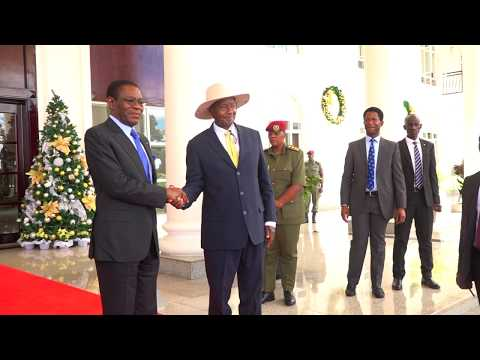 How Museveni Welcomed Equatorial Guinea President Obiang Nguema Mbasogo At State House