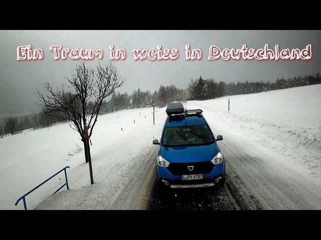 Winterchaos in Deutschland 2019 - Unterwegs im Erzgebirge mit dem Dacia Minicamper