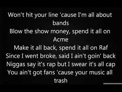 CMDWN - Roxanne Feat Chief Keef (lyrics)