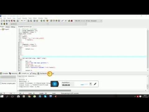 C++-Template(Şablon sınıf)