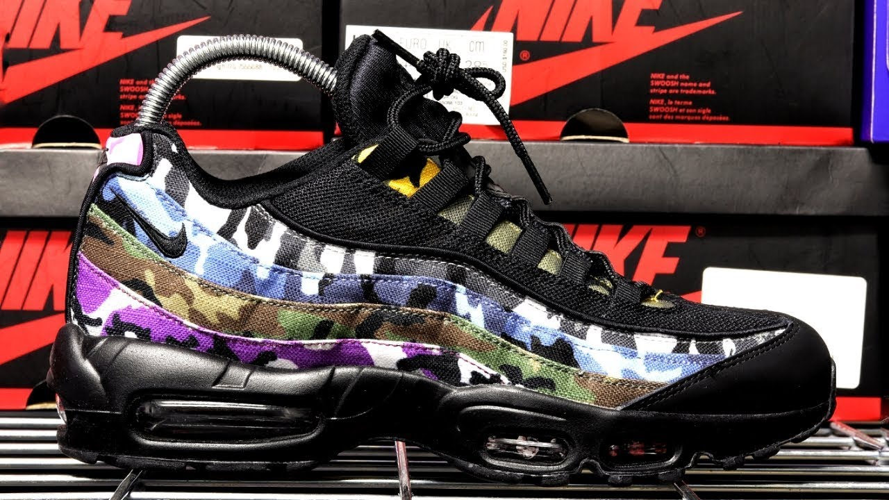 f19133803 AIR MAX 95 ERDL PARTY (BLACK) UNBOXING - YouTube