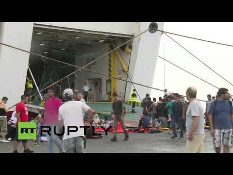 LIVE: Greek ship is set to accommodate 2,500 refugees at Greek island of Kos