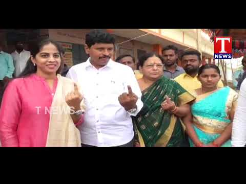MP Santosh Kumar Cast His Vote in Kodhurupaka | Telangana Assembly Elections 2018 | TNews Telugu