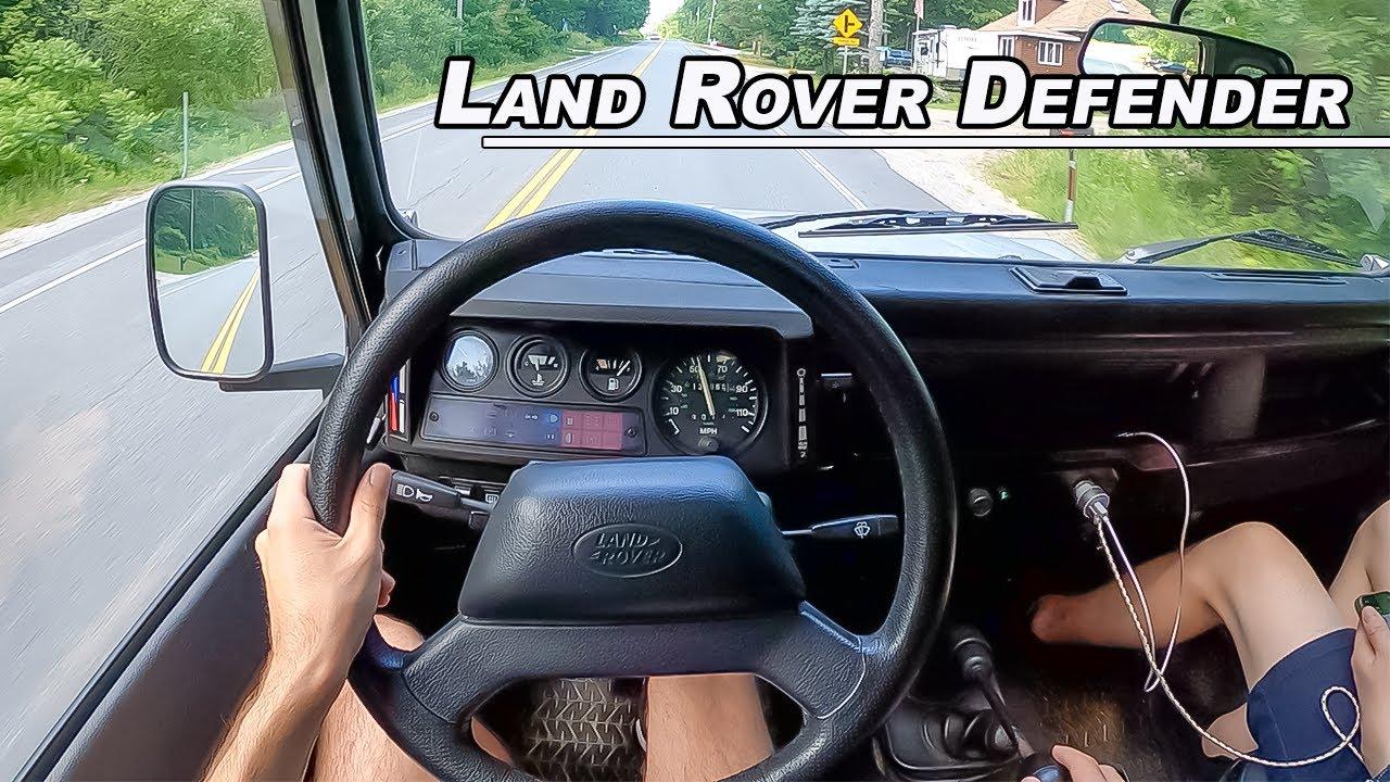 1988 Land Rover Defender 110 - V8 British Overlander Driven (POV Binaural Audio)