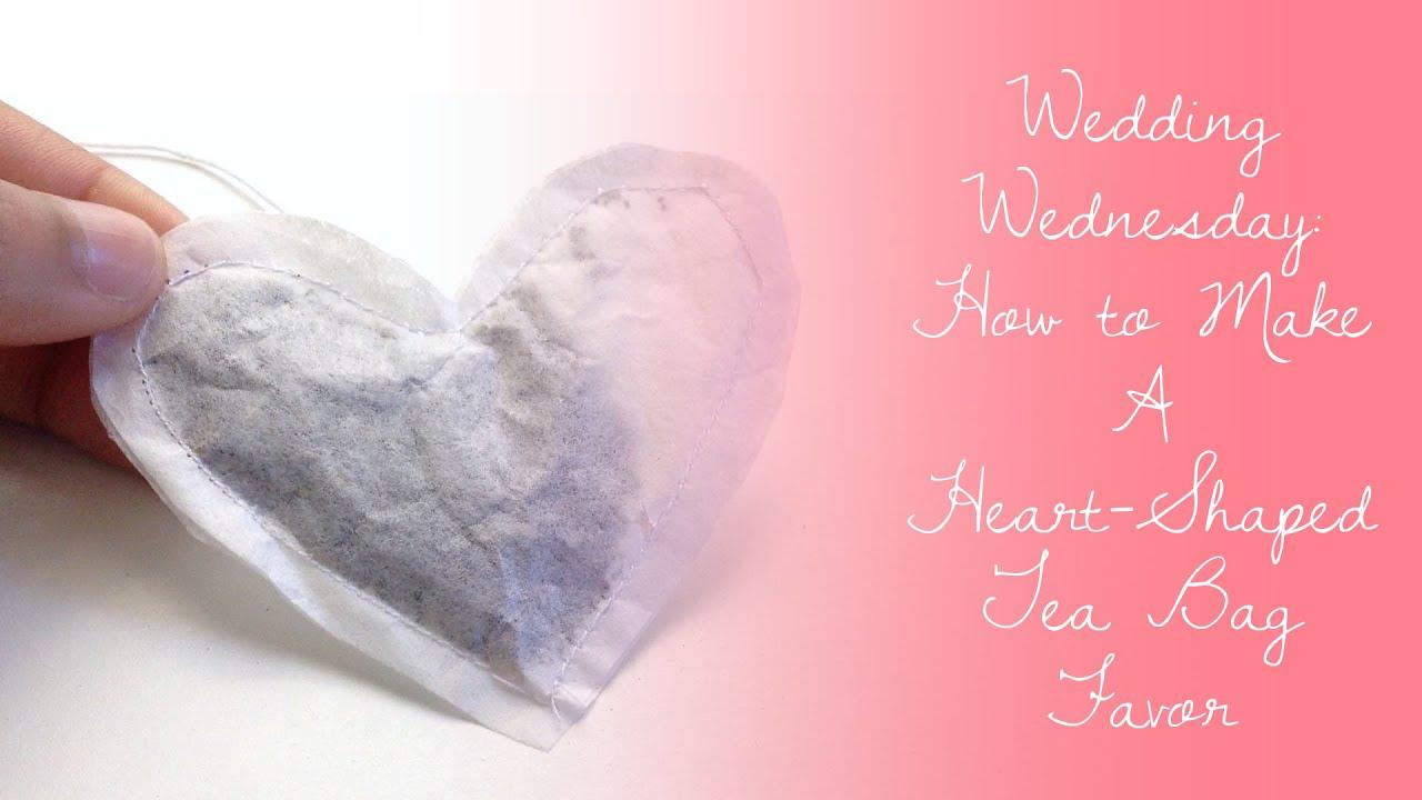 DIY Heart-Shaped Tea Bag Favor - YouTube