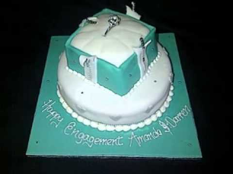 Cake Decorations For Engagement Cake : DIY Engagement cake decorations - YouTube