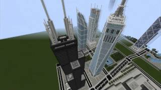 Minecraft cinematic: Burj Khalifa, World trade center & more !