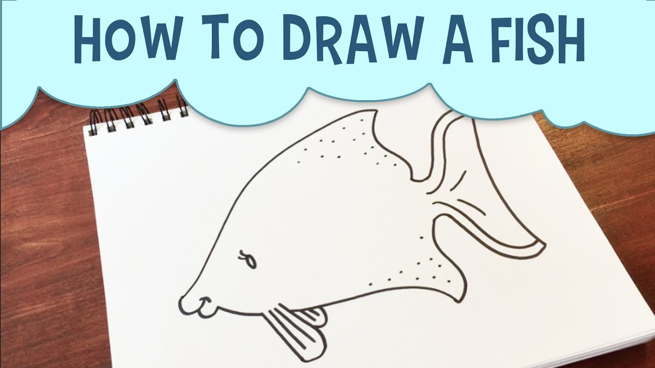 Learn how to draw an cartoon fish youtube for Learn to fish