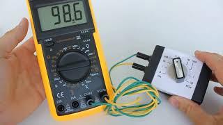 DT9208A мультиметр цифровой, обзор и оценка точности по сопротивлению