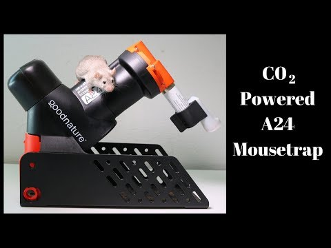 The CO2 Powered A24 Mousetrap by Goodnatured. Automatic Trap Company.