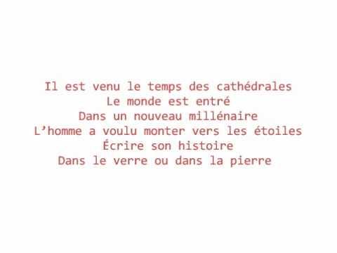 Le temps des Cathédrales - Bruno Pelletier