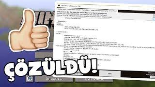 Minecraft Crash Report Ve Game Output Hatasının Gerçek Çözümü - 3 DAKİKA'DA!