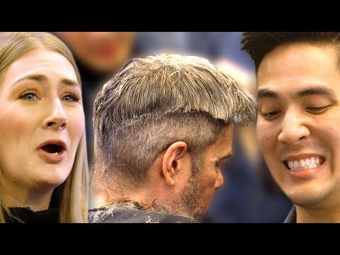 Amateurs Compete At Cutting A Stranger's Hair