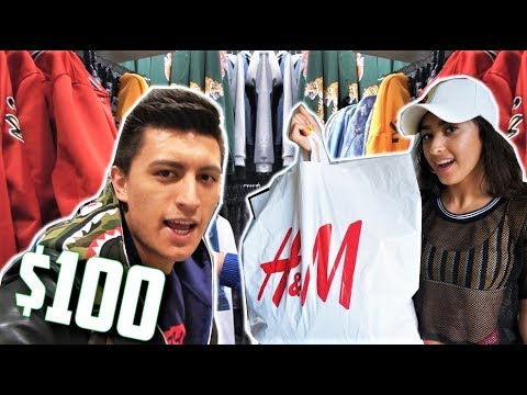 $100 H&M OUTFIT CHALLENGE! SISTER PICKS THE OUTFIT!
