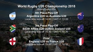 U20 Championship Day 5 - South Africa U20 v New Zealand U20