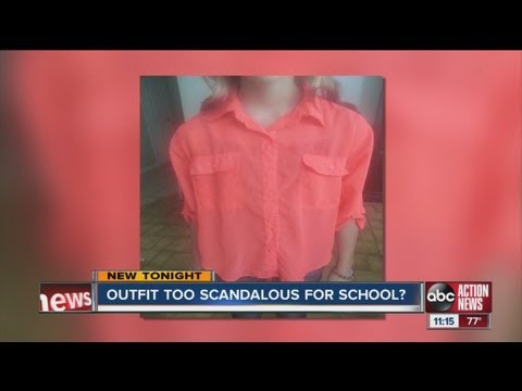 Banned from school pictures over shirt