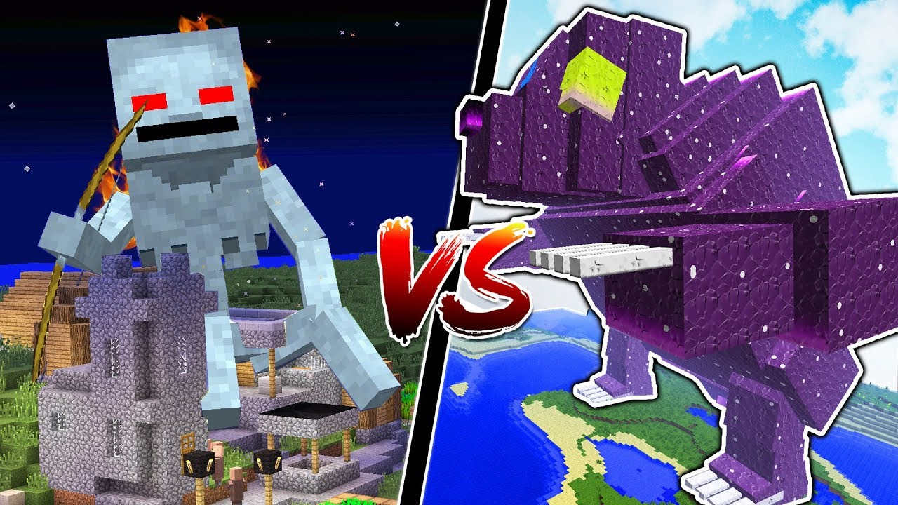 Minecraft Titans Vs Minecraft S Biggest Bosses Doovi