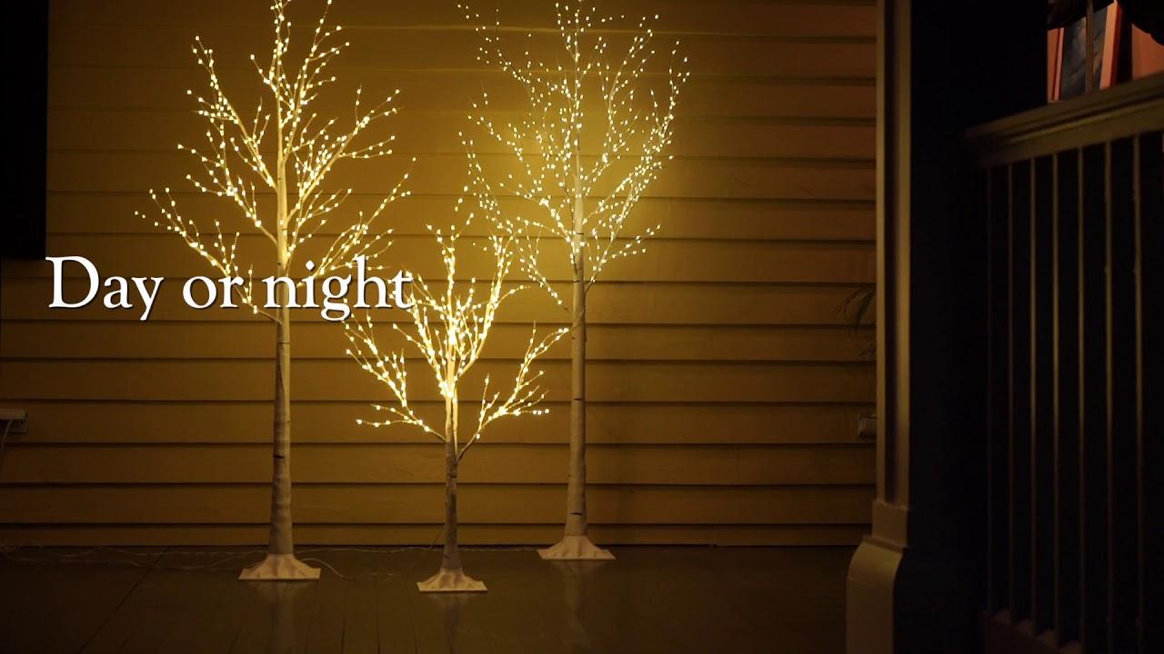 Indoor Outdoor Birch Tree With Micro Lights Sku 65d34 Plow Hearth
