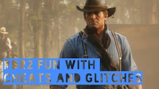 RDR2-fun with cheats and glitches