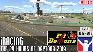 The @iRacing 24 Hours of Daytona 2019 || Parte 1/3 (0h - 8h) @PitDemons || LIVE
