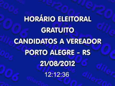 Horário Eleitoral: Ver. Porto Alegre/RS (21/08/2012) Rádio