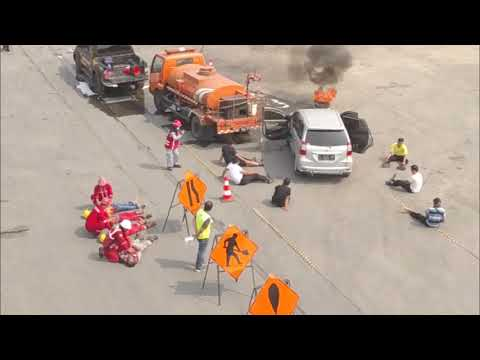 ASTRA Tol Tangerang-Merak Gelar Simulasi Kecelakaan Luar Biasa