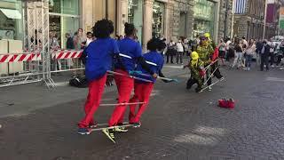 Nice street performers in Barcelona.