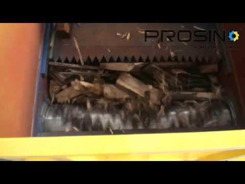Single motor single shaft shredder for plastic,wood,rubber,paper - PROSINO SHREDDER