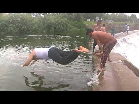 Dangerous Swimming |  New techniques in Dam | #lake | #sea. |